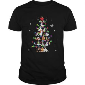 Cavalier King Charles Spaniel Christmas tree guys shirt