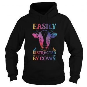 Easily distracted by cows hoodie shirt