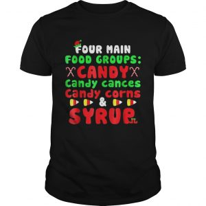 Four Main Food Groups Elf Buddy Christmas Pajama Guys