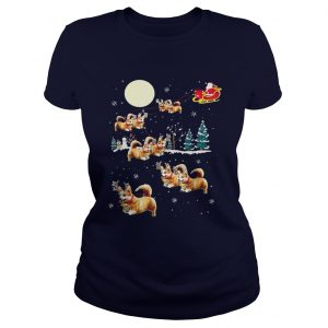 Funny Corgi Christmas Ladies Tee