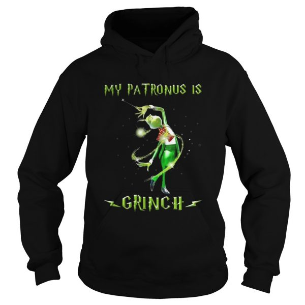 Harry Potter my patronus is a Grinch Christmas hoodie shirt
