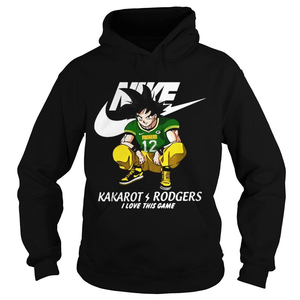 get cheap a1253 4133f Nike Kakarot Rodgers I love this game Green Bay Packers shirt