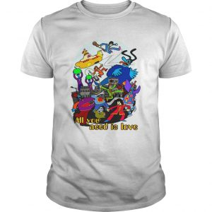 Official the Beatles all you need is love guys shirt