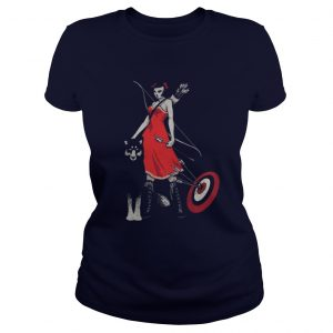 Princess Mononoke hunts with her wolf brother Ladies Tee