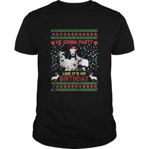 We gonna party like its my Jesus Christmas guys shirt