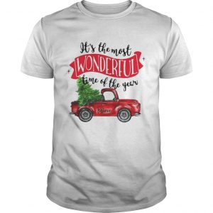Wonderful time of the year Christmas tree red car believe guys shirt