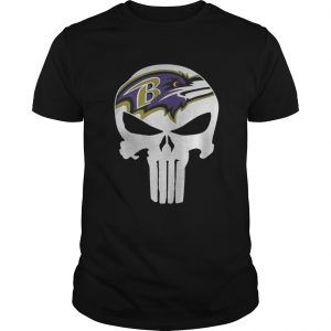 Baltimore Ravens Punisher NFL guy shirt