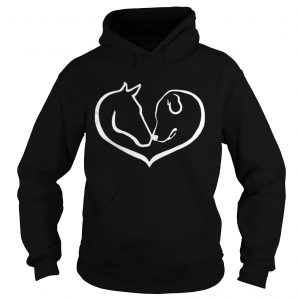 Horse and Dog Shape Of Heart hoodie shirt