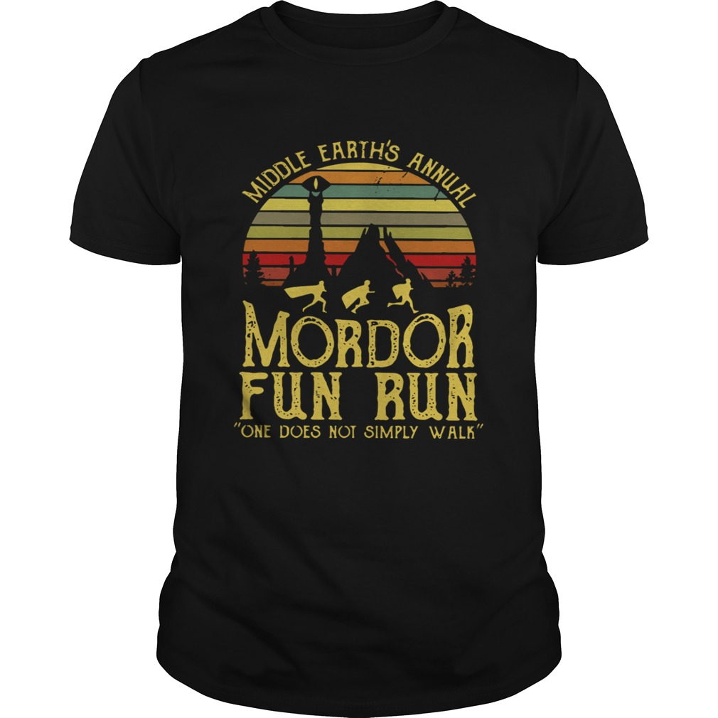 bb9ee0e78 Middle earths annual Mordor fun run one does not simply walk guys shirt