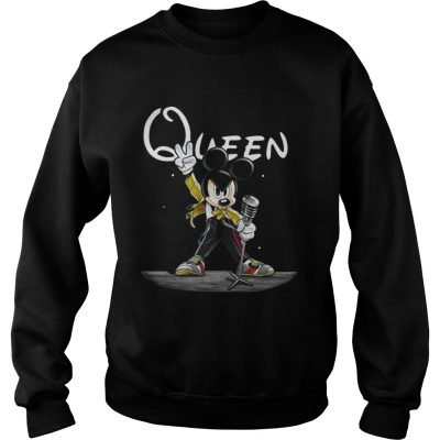 Queen Mickey mouse singing shirt and sweat shirt