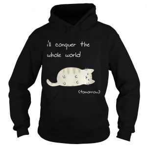 Cat I'll conquer the whole world tomorrow hoodie shirt