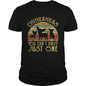Chihuahuas You Cant Have Just One Vintage guys TShirt
