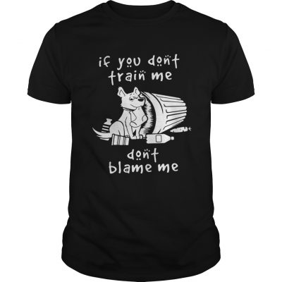 Dog If You Dont Train Me Dont Blame Me guy Shirt