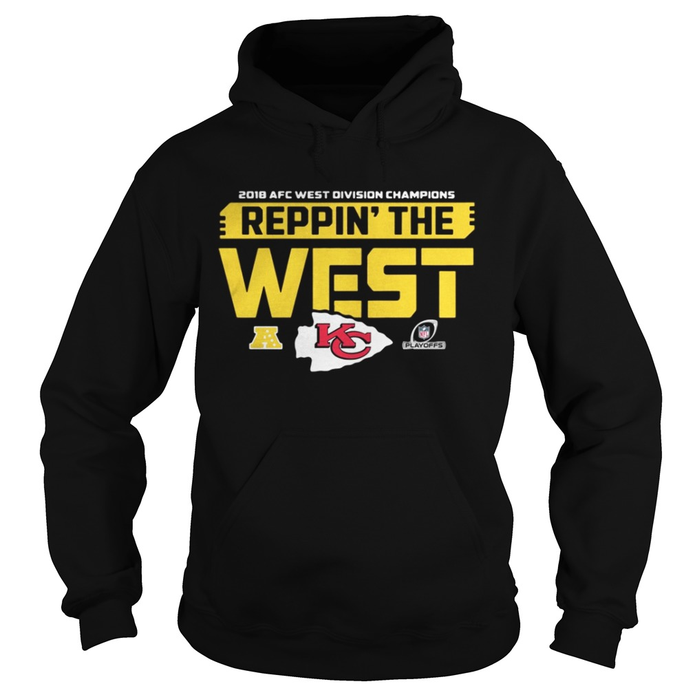 a1fdf929531c93 Kansas City Chiefs 2018 AFC west division champions Reppin the west hoodie  shirt