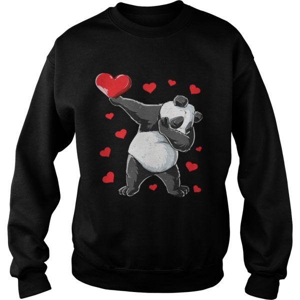 Dabbing Panda Heart Valentines Day Bear sweat Shirt