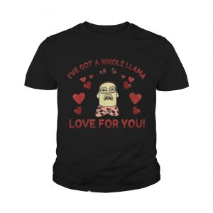 Funny Llama Pun Love Heart Meditation Yoga youth Shirt