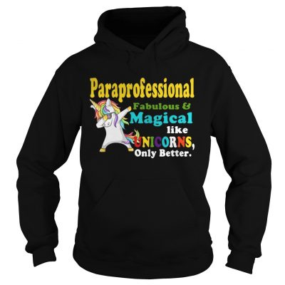 Paraprofessional Fabulous And Magical Like Unicorns Only Better hoodie Shirt
