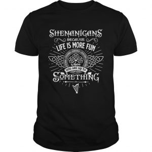 Shenanigans Because Life Is More Fun When You Are Up To Something ladies shirt