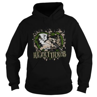 Valentines Day military Cupid heartthrob hoodie shirt