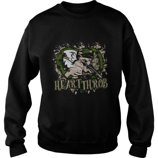 Valentines Day military Cupid heartthrob sweat shirt