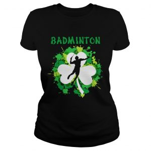 Badminton Shamrock Irish St Pattys Day Sport Shirt For Badminton Lover Shirts