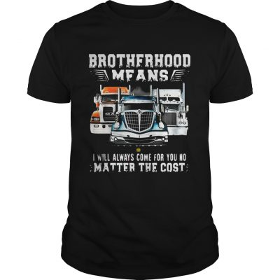 Brotherhood Means I Will Always Come For You No Matter The Cost Trucker guy Shirt