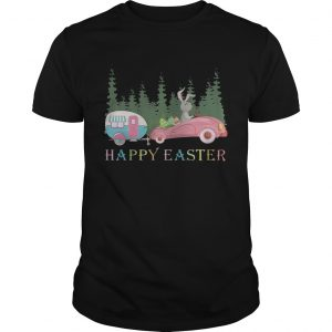 Camping Happy Easter Day Bunny Eggs Guy Shirt