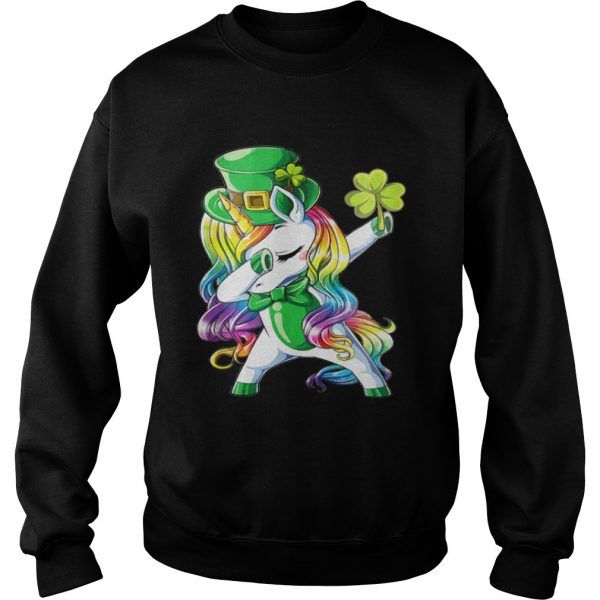 Dabbing unicorn Irish St Patricks sweat shirt