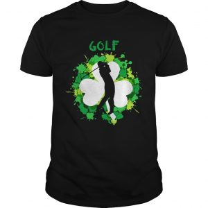 Golf Shamrock Irish St Pattys Day Sport guy Shirt