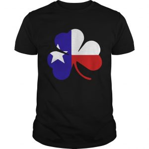 Irish Texas Flag Shamrock St Patricks guy TShirt