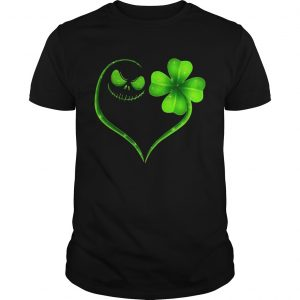 Jack Skellington and Irish Four Leaf Clover guy shirt