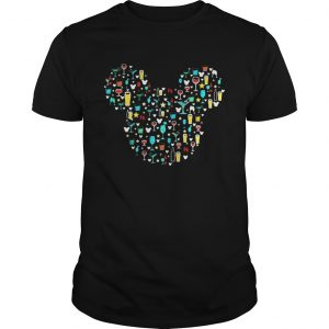 Mickey Mouse Disney wine beer witch cocktails Guy shirt