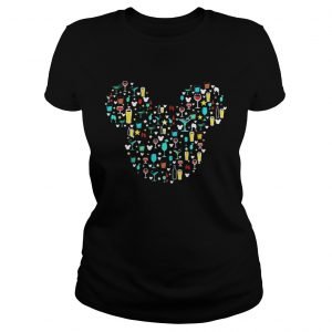 Mickey Mouse Disney wine beer witch cocktails Ladies shirt