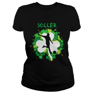 Soccer Shamrock Irish St Pattys Day Sport ladies Shirt