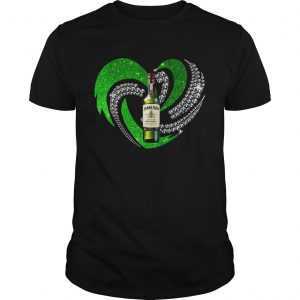 St Patricks Day Shamrock Irish Jameson Love Wine Heart Bling guy shirt
