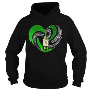 St Patricks Day Shamrock Irish Jameson Love Wine Heart Bling hoodie shirt