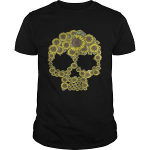 Sunflower skull guy shirt