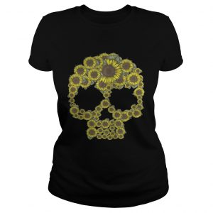 Sunflower skull ladies shirt