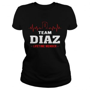 Team Diaz lifetime member ladies shirt