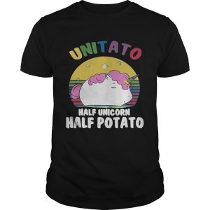Unitato half unicorn half potato guy shirt