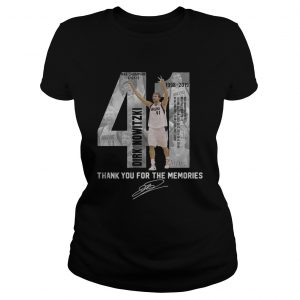 41 Dirk Nowitzki thank you for the memories ladies shirt
