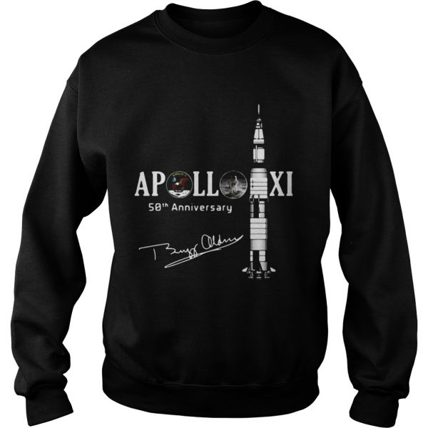 Apollo 11 50th Anniversary With Astronaut Buzz Aldrin Signature Sweat Shirt