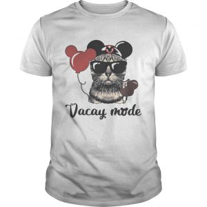 Cat with Mickey Mouse ears vacay mode guy shirt