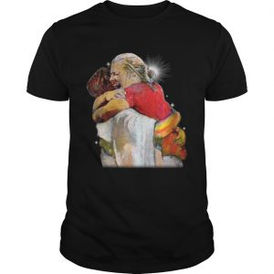 Christian First Day in Heaven Hug Of God guy shirt