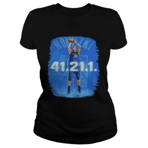 Dallas Mavericks Dirk Nowitzki 41 21 1 ladies shirt