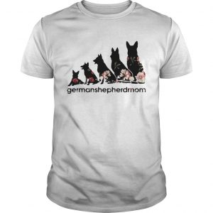 Flower dogs Germanshepherdmom guy shirt