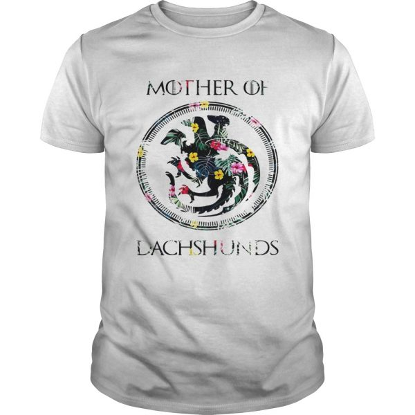 Flower mother of dachshunds game of throne guy shirt
