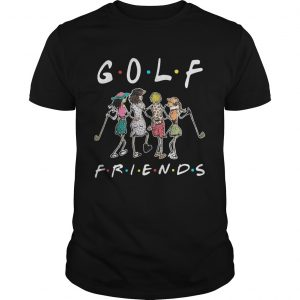 Golf friends girl guy shirt