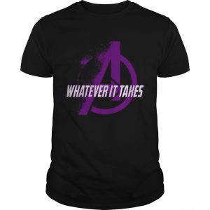 Marvel Avengers Endgame whatever it takes violet logo guy shirt