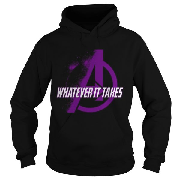 Marvel Avengers Endgame whatever it takes violet logo hoodie shirt